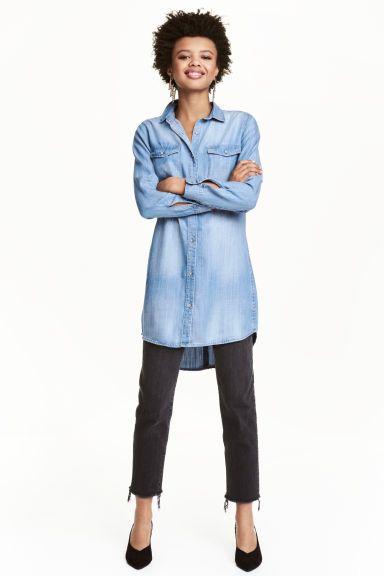 Camicia lunga - Blu denim - DONNA | H&M IT 1