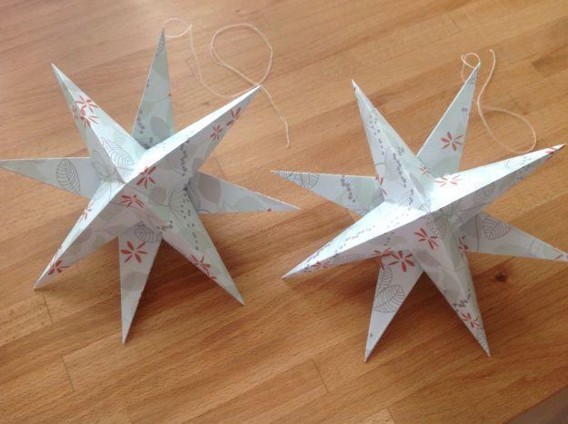 Foldede stjerner af papir #julestjernerpapir IMG_0018_2 #julestjernerpapir