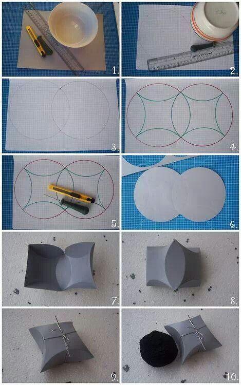 Pillow Box Basteln geschenkbox basteln packaging craft origami and gift