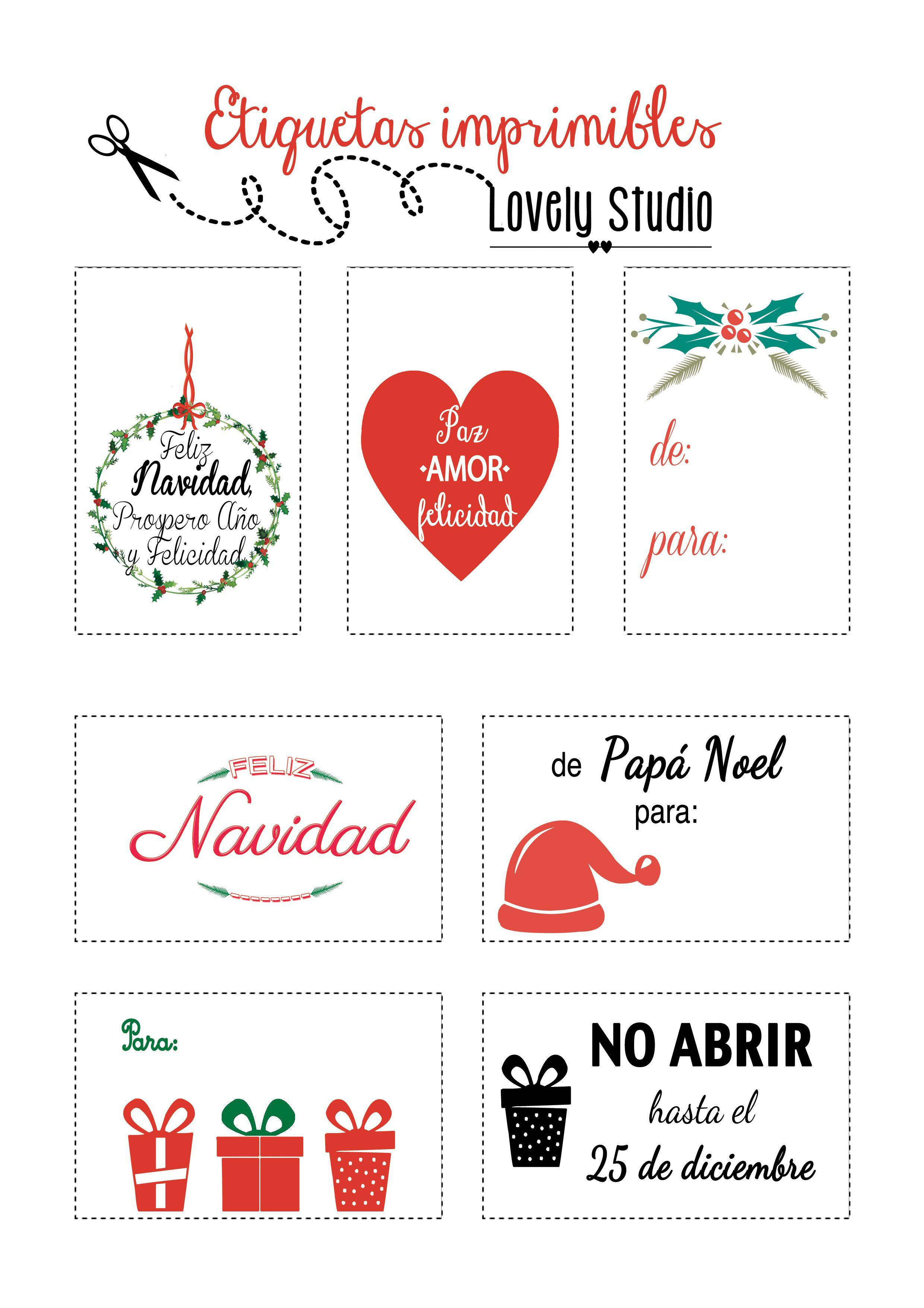 ETIQUETAS IMPRIMIBLES NAVIDAD | Imprimibles | Pinterest | Navidad ...