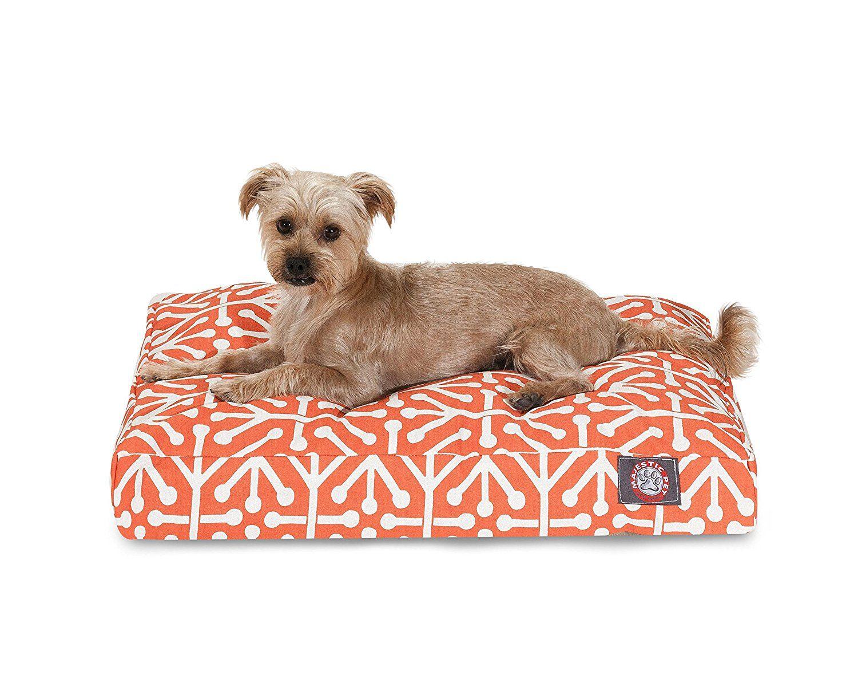 Orange Aruba Small Rectangle Indoor Outdoor Pet Dog Bed
