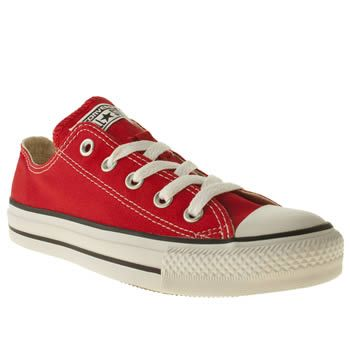 7fd19a1c91a8 Converse Red All Star Oxford Womens Trainers A plimsoll staple