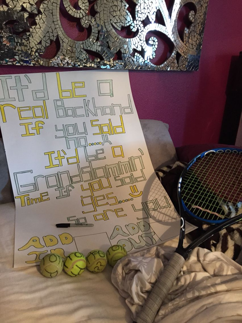 Tennis Promposal Homecoming Proposal Promposal Homecoming Posters