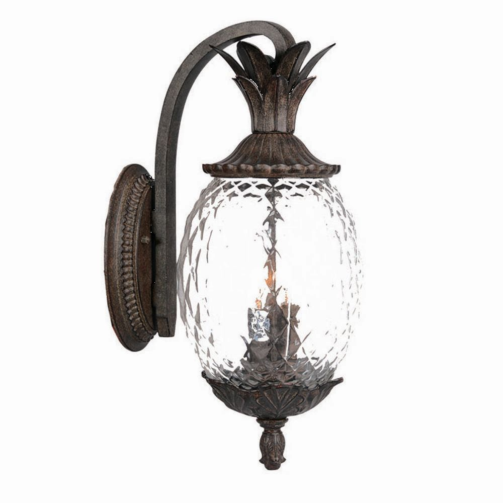 22 Inch Tall Dark Bronze Pineapple Outdoor Wall Mount Light Is Made By The Brand Good Wall Mount Light Fixture Wall Mounted Light Outdoor Wall Mounted Lighting