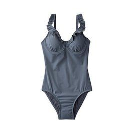 ASSETS® by Sara Blakely® Womens Ruffled 1-Piece Swimsuit - Gray