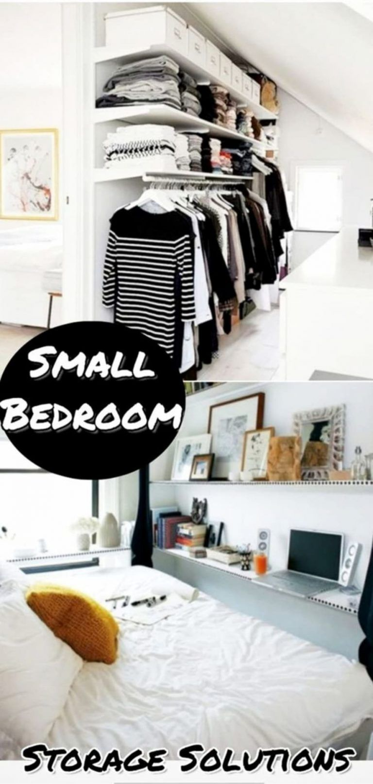 38 Creative Storage Solutions For Small Spaces Awesome Diy Ideas Small Bedroom Storage Solutions Small Space Storage Bedroom Bedroom Storage For Small Rooms