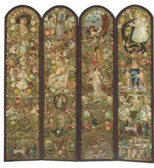 Victorian Four-Fold Scrap Dressing Screen, J Z Rose ($3,825.44)