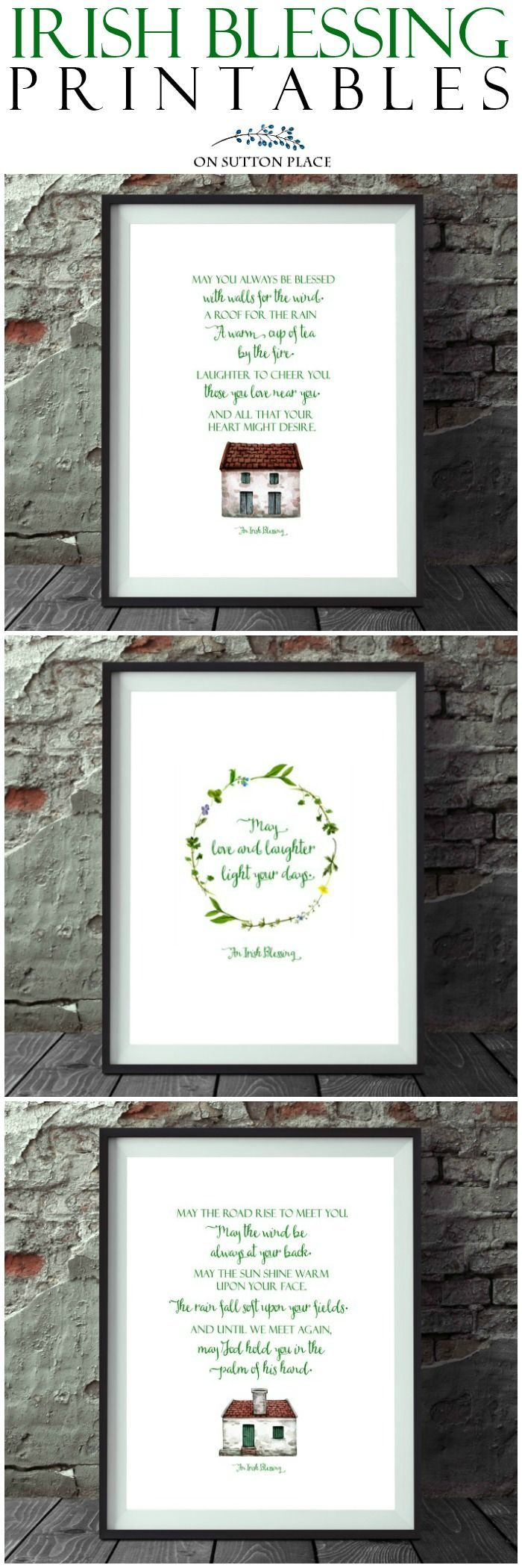 Irish Blessing Free Printables for St. Patrick\'s Day: 3 Designs! A ...