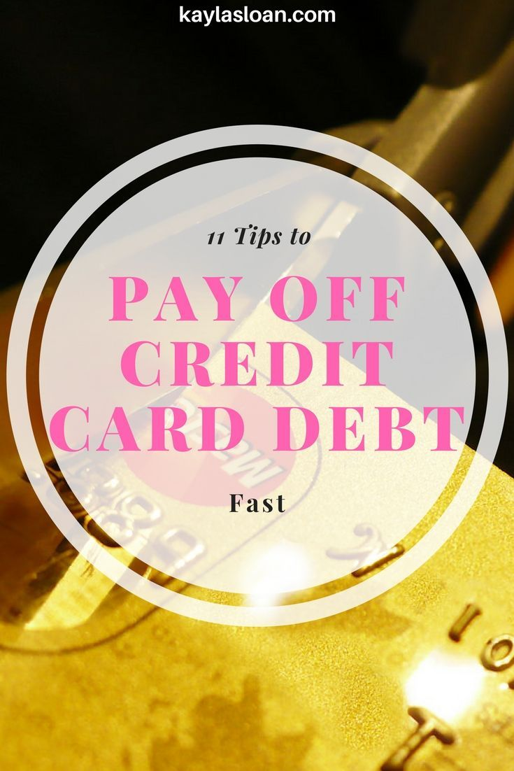 11 smart tips to pay off credit card debt fast debt