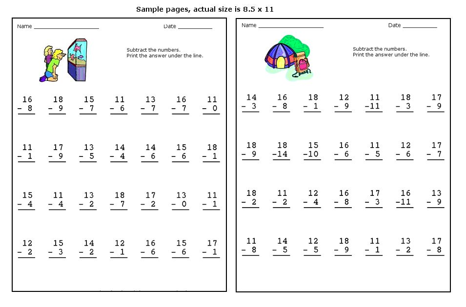 Subtracting 0 1 2 Worksheets two digit subtraction worksheets – Subtracting 0 1 2 Worksheets