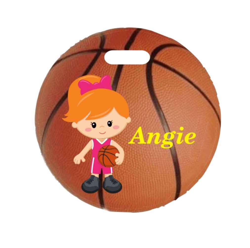 c61b1601ac54 backpack tag, girl basketball tag, gym bag tag, lunch box tag ...