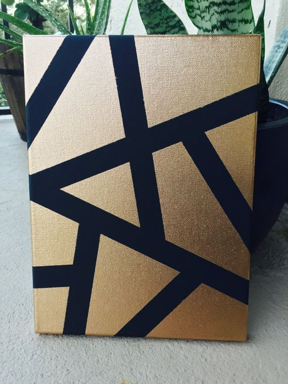 Abstract Black And Gold Wall Art By Thefancyrustic On Etsy With