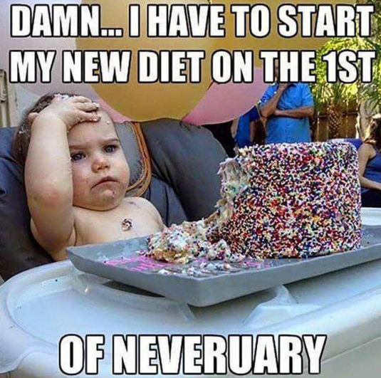 new years eve diet meme