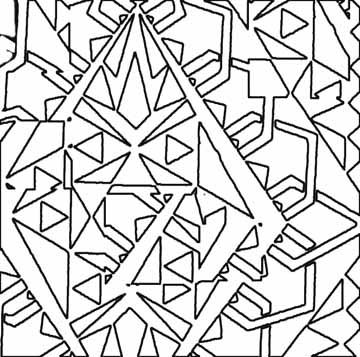 Coloring page to use while learning types of triangles