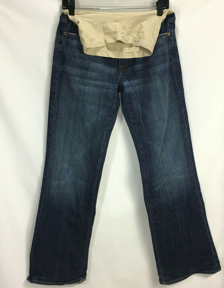 b5fc64b6c59c6 7 For All Mankind Women's Sz 32 Maternity Blue Jeans A Pea In The Pod Dark  Boot #7ForAllMankind #BootCut
