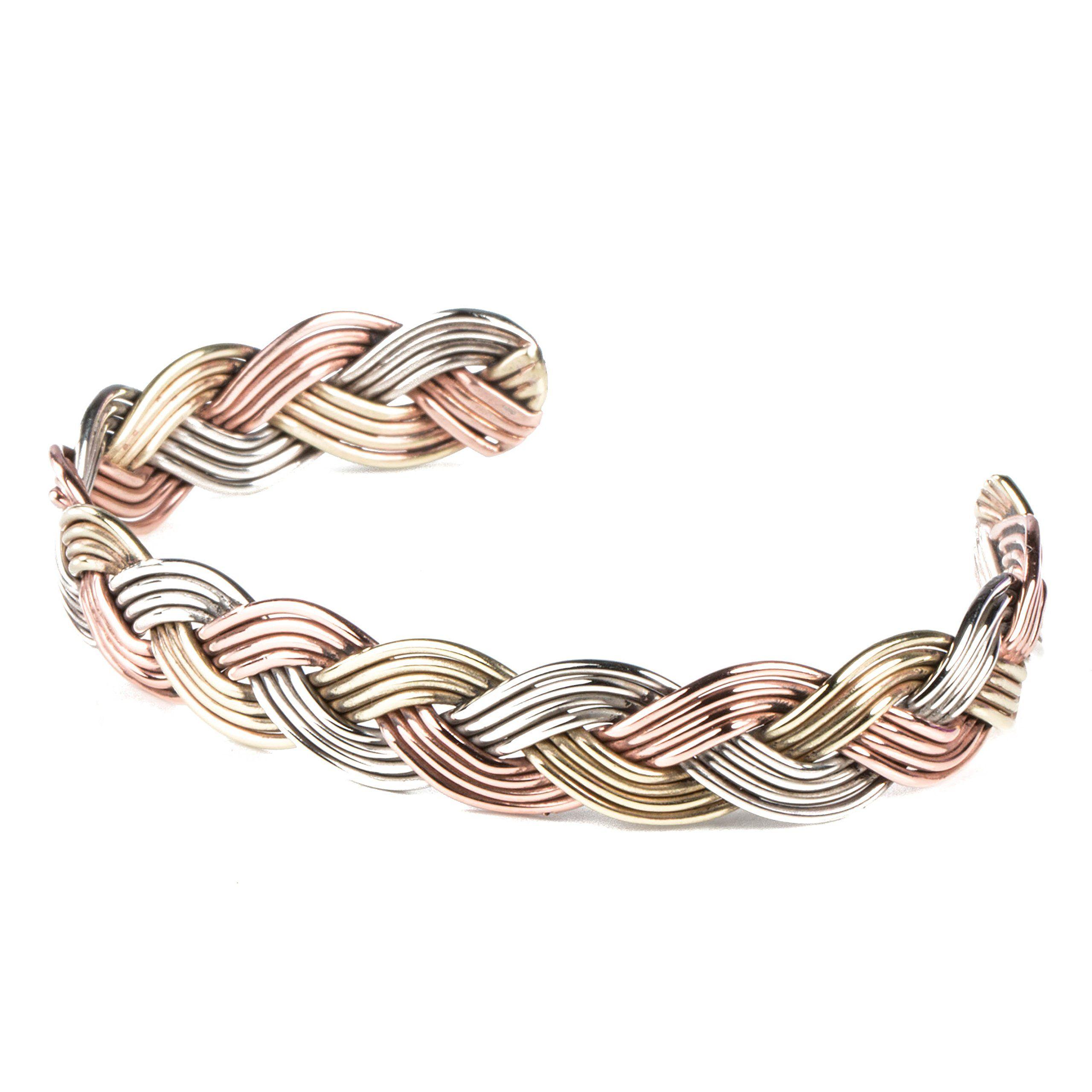 TSKIES Authentic Navajo Woven Rope Wire Copper Nickel Brass Bracelet ...