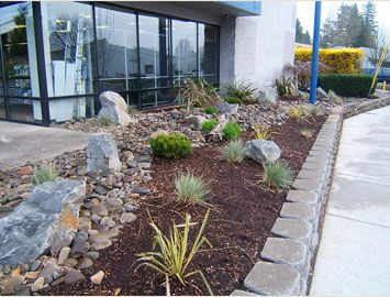 Xeriscaping With Rocks And Bark Xeriscape Landscaping