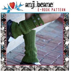 Military Style Leg Warmers Crochet Pattern!