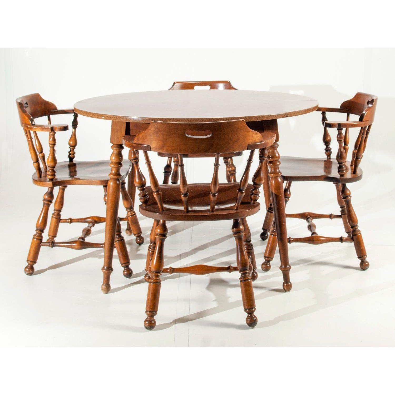 Ethan Allen Heirloom Nutmeg Maple Dining Table Chairs Maple Dining Table Dining Table Dining Table In Kitchen