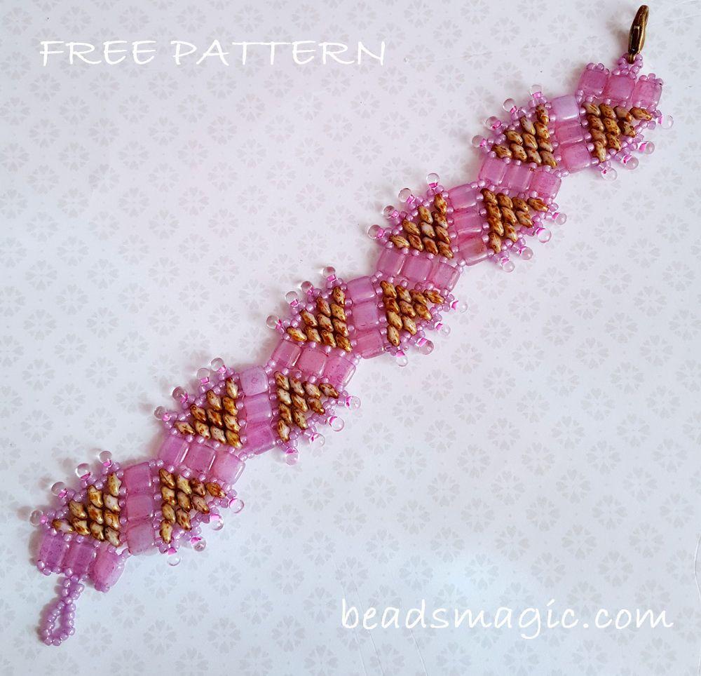 Free Pattern For Bracelet Princess Crown Beads Magic
