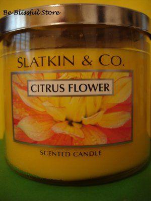 Bath & Body Works Slatkin Citrus Flower 3 Wick Candle. $19