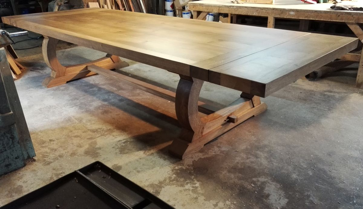 Large Handmade Oak Dining Tables By Makers