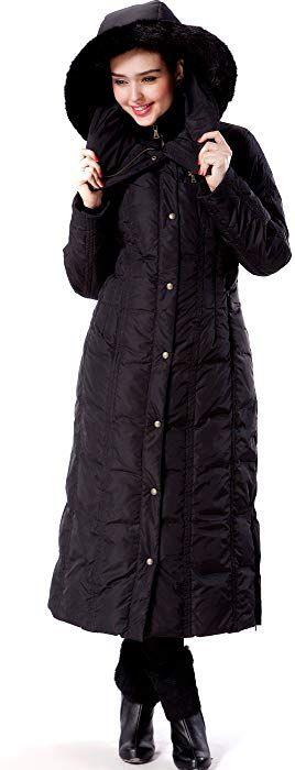 1ae6d61ea8b Amazon.com: BGSD Women's Lacey Water Resistant Maxi Down Coat - Black XL:  Clothing