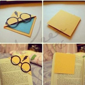 Harry potter corner bookmark bookmarks corner bookmarks and oragami bookmark do it yourself harry potter cute cool diy solutioingenieria Images