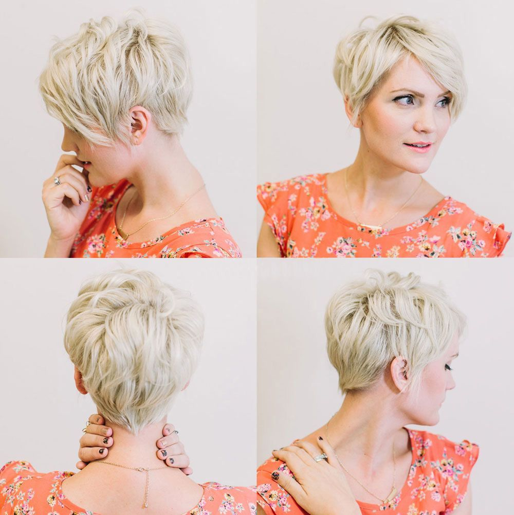 16 Trendy Short Hairstyles for Summer | Blonde pixie, Short ...