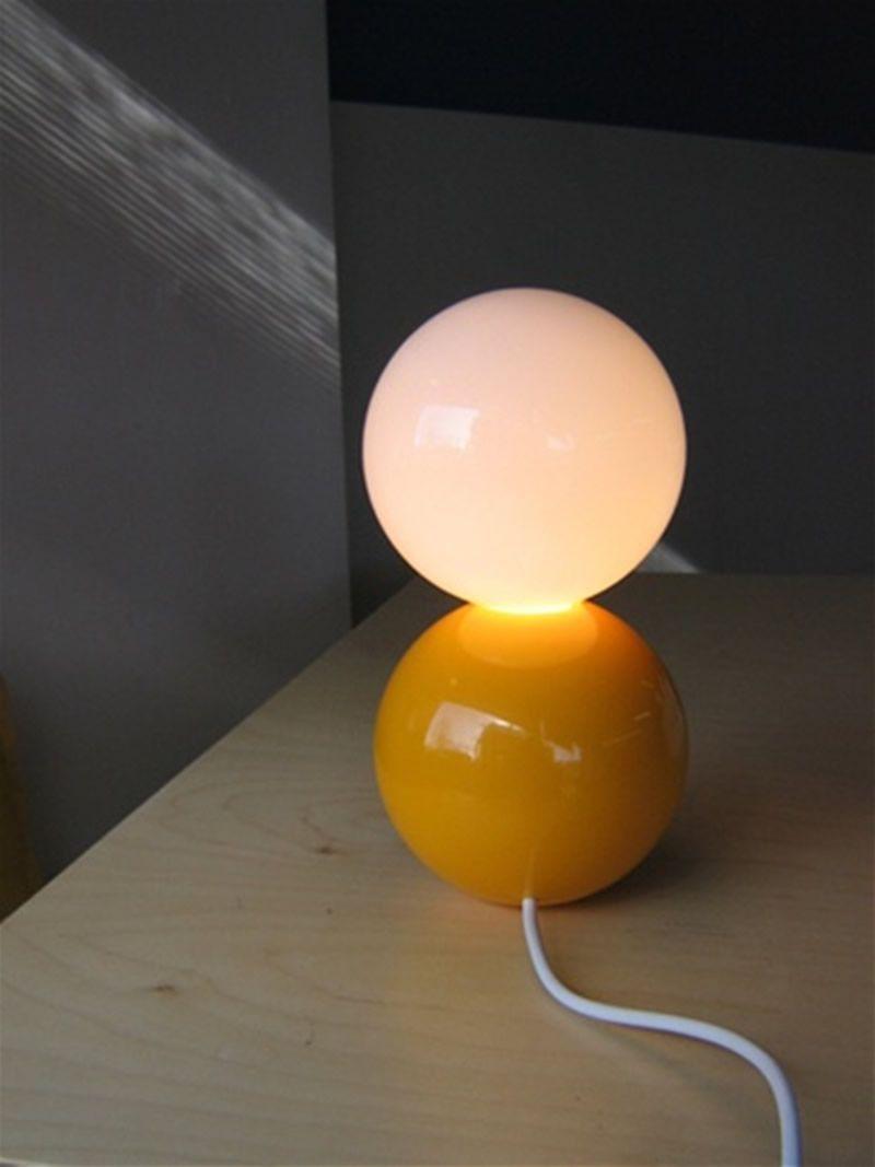 Yellow table lamp  Find more inspirations: www.luxxu.net #luxurylighting #lightingdesign #tablelamps