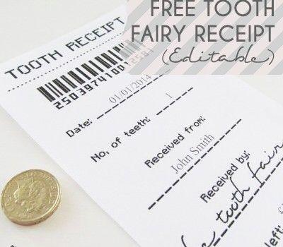 Thirty Handmade Days 30 Days Thirty Handmade Days Tooth Fairy Receipt Tooth Fairy Receipt Free Tooth Fairy Receipt Printable