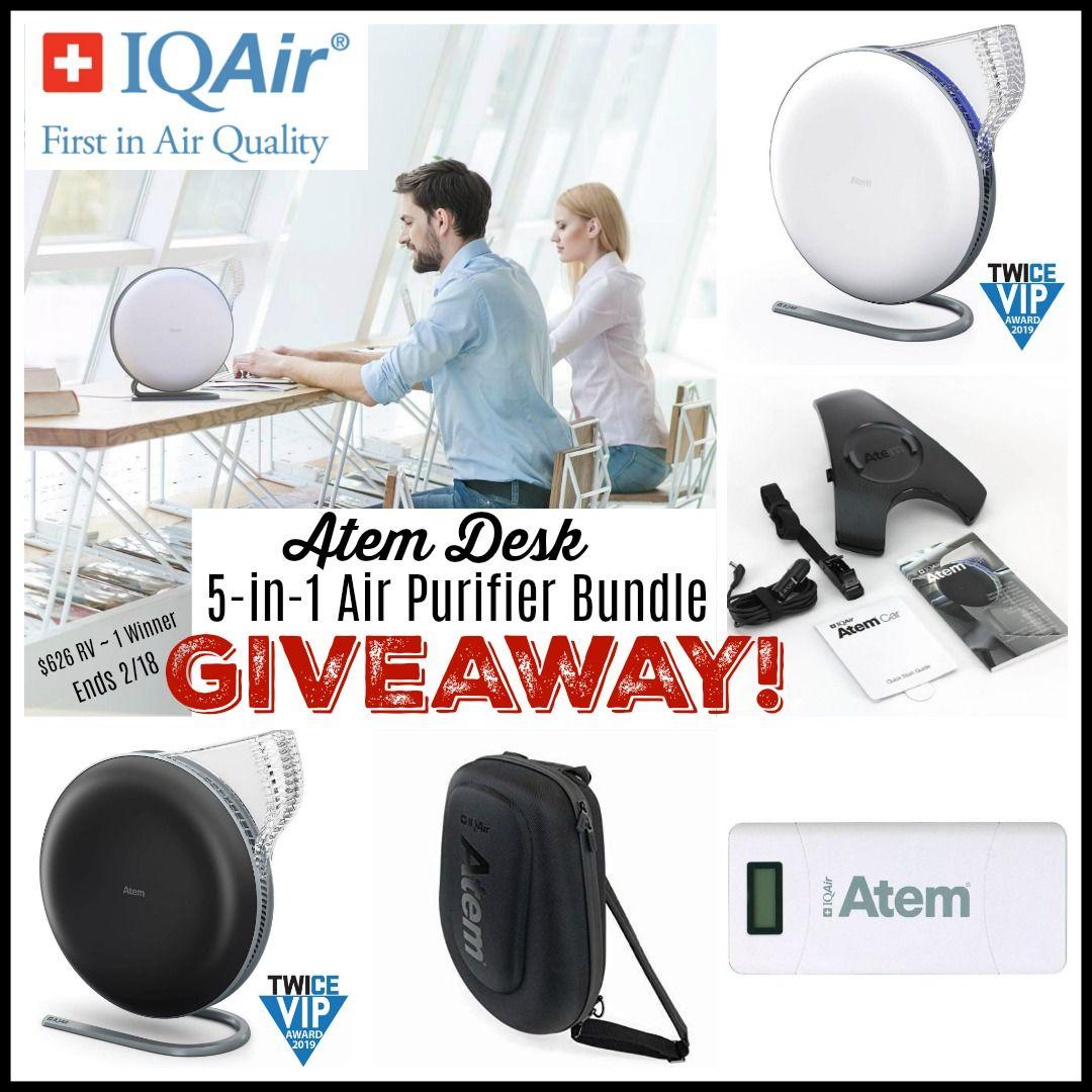 IQAir Atem Desk 5in1 Air Purifier Bundle Giveaway! (1