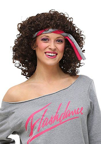 Fun Costumes Womenu0027s Flashdance Jennifer Beals Curly Wig  sc 1 st  Pinterest & Fun Costumes Womenu0027s Flashdance Jennifer Beals Curly Wig | 80u0027s ...