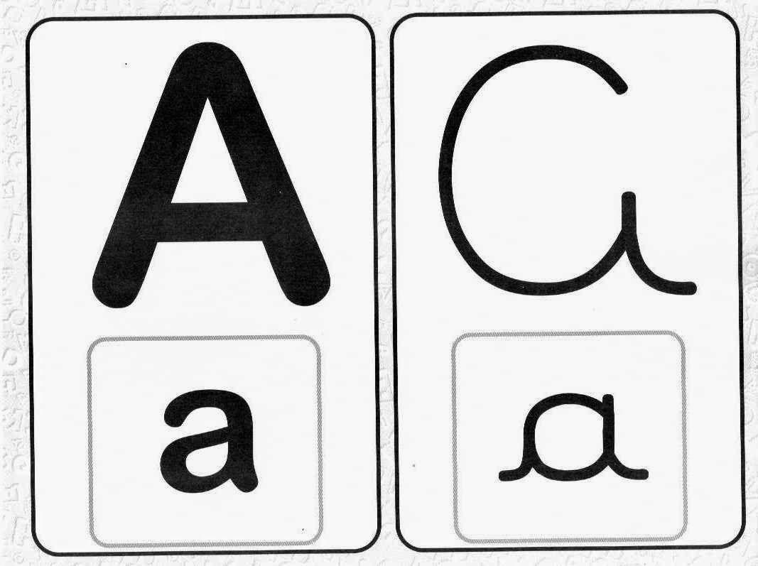 Alfabeto Com 4 Tipos De Letras Com Imagens Alfabeto Letra