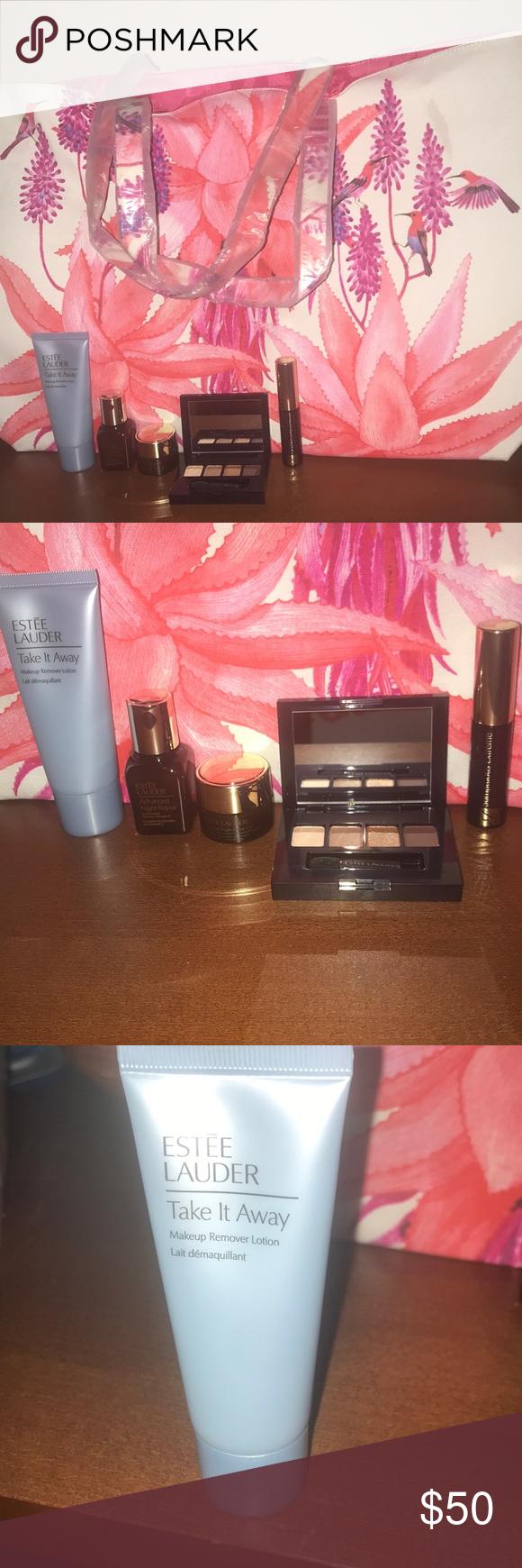 NWT Estée Lauder Tote & 5pc Makeup Set in 2020 Makeup