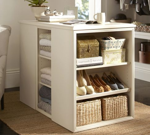 Love this island for the closet!