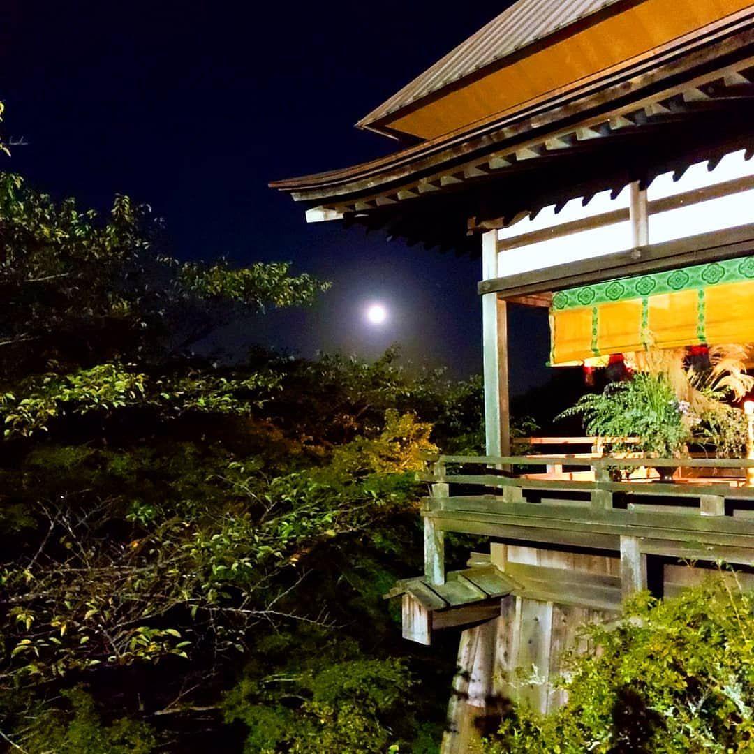What a beautiful full moon(*˘︶˘*).。.:* 石山寺へ満月のお散歩に行きました🎑.。.:*✧
