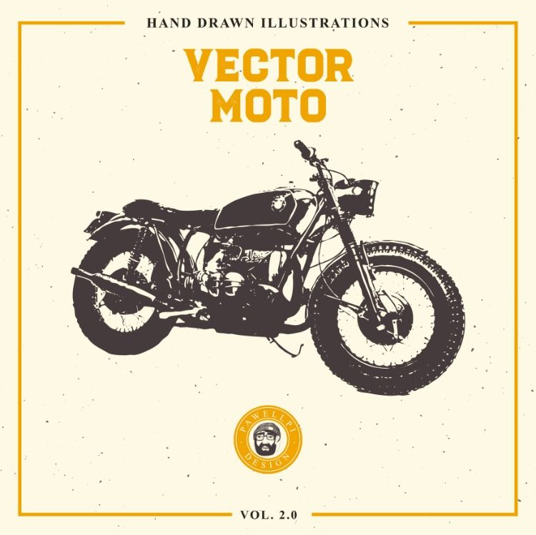 Vector Moto Hand Drawn Bundle 2 0 In 2020 How To Draw Hands Icon Set Vector Sport Illustration