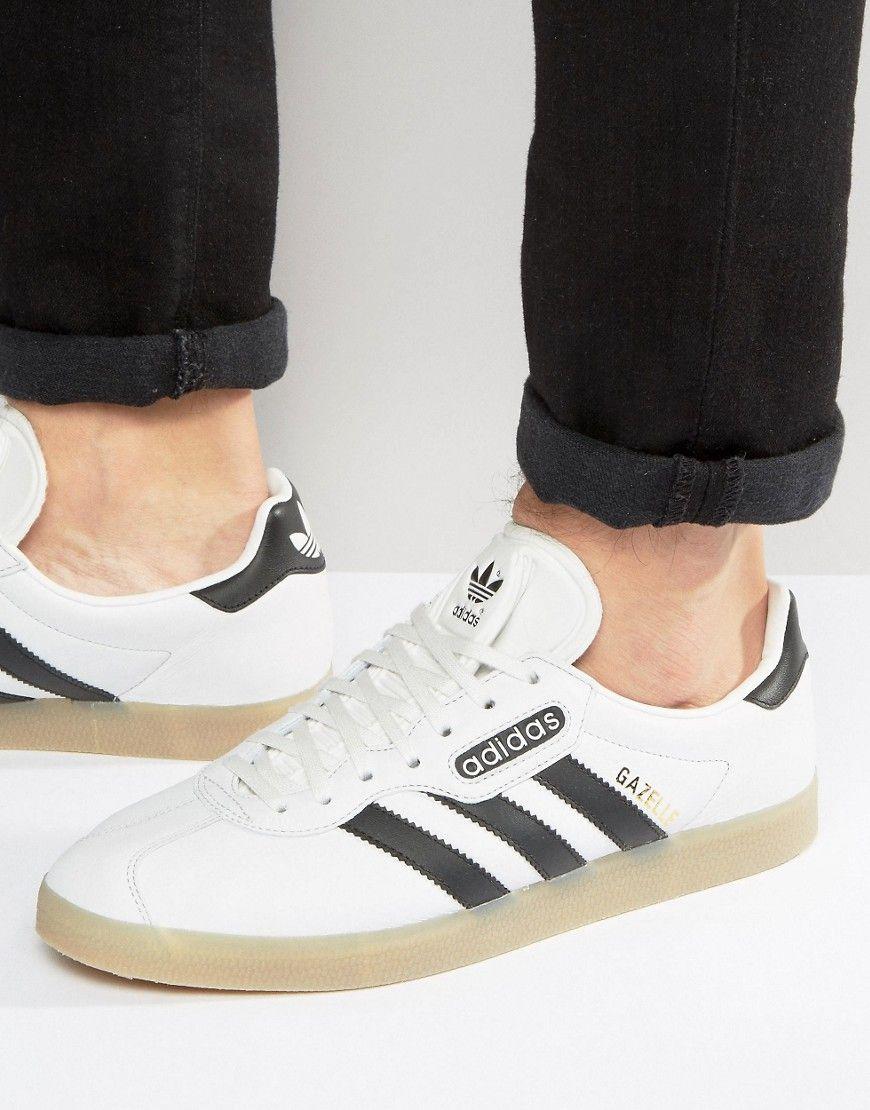 gazelle super shoes white real