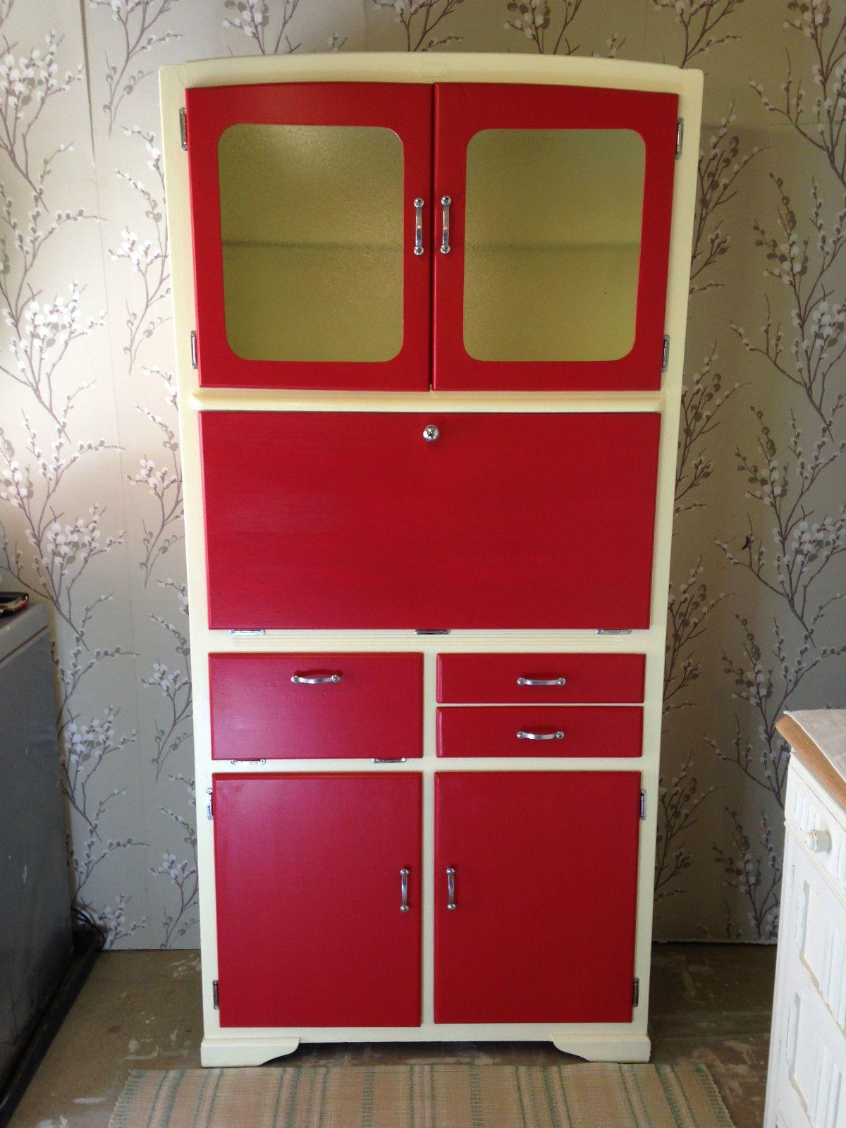 Vintage Retro Kitchenette Larder Mid Century 50 S 60 S Kitchen Cupboard Vintage Kitchen Cabinets Kitchen Window Treatments Kitchen Cabinets For Sale