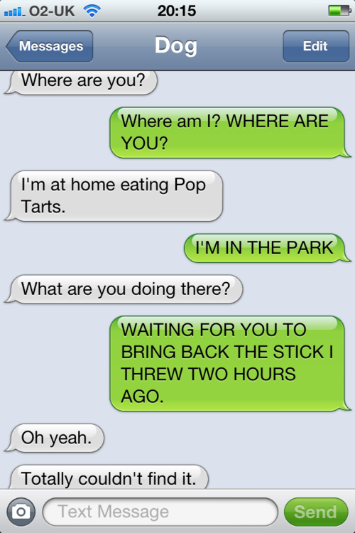 Texts From Dog - I know this dog...