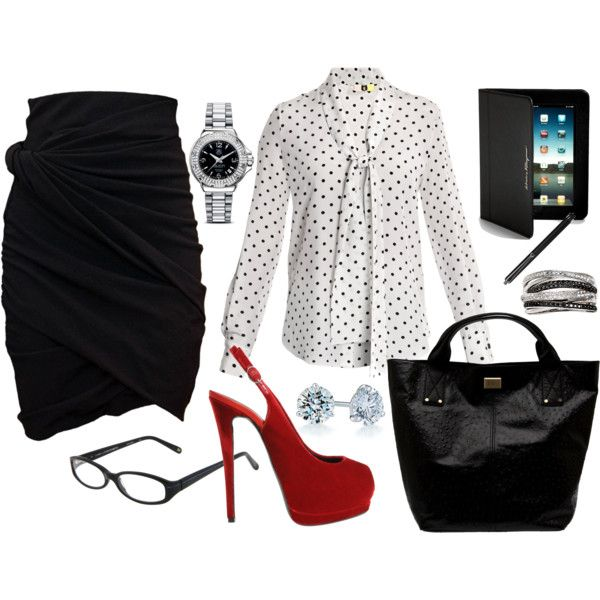 love the shoes and skirt . . . but the two would wipe my clothing allowance out for six months!! :)