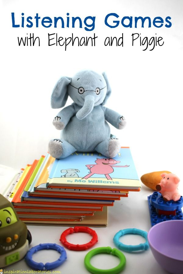 Listening Games with Elephant and Piggie | Preschool