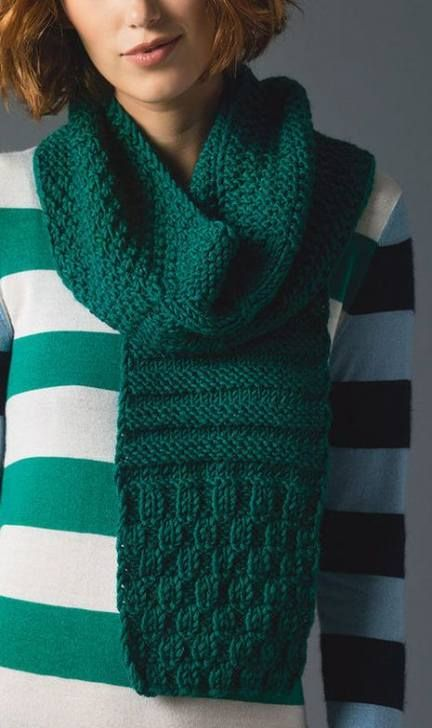 Knitting patterns simple moss stitch 16 Ideas | Easy scarf ...