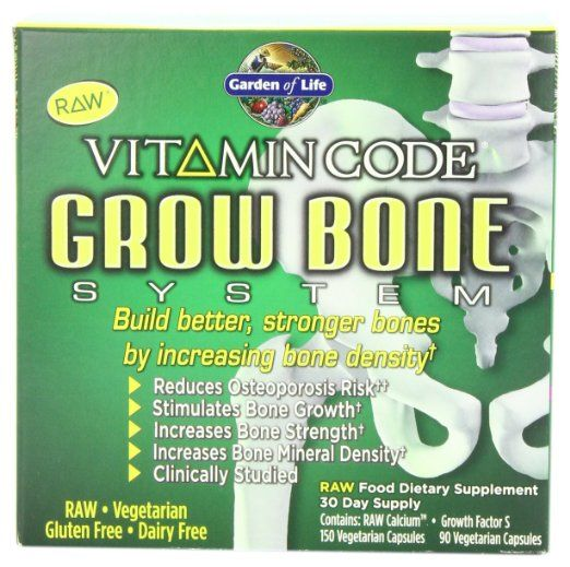 garden of life raw calcium. garden of life vitamin code grow bone system, (raw calcium 150 vegetarian and growth raw i