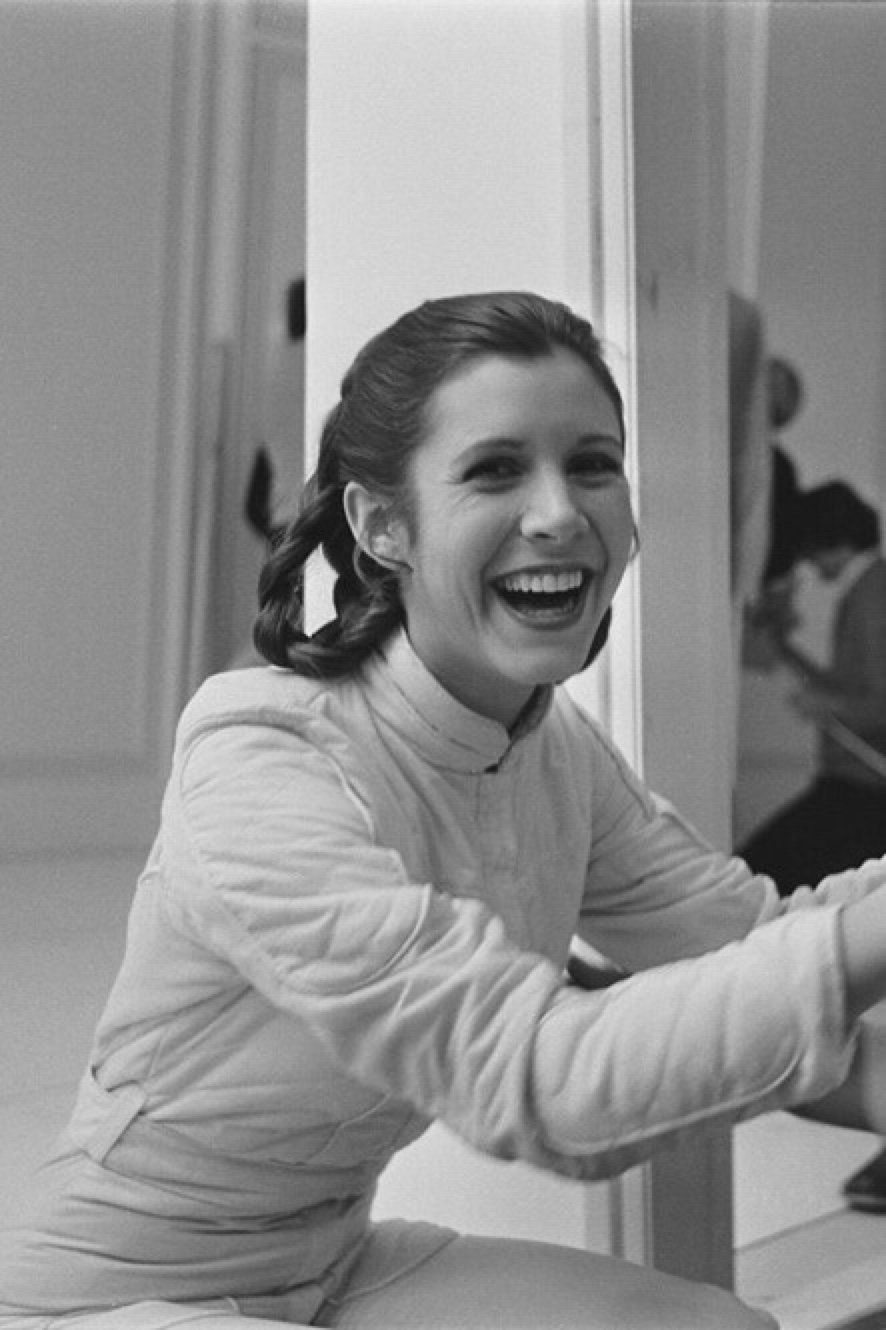 Carrie Fisher as Leia