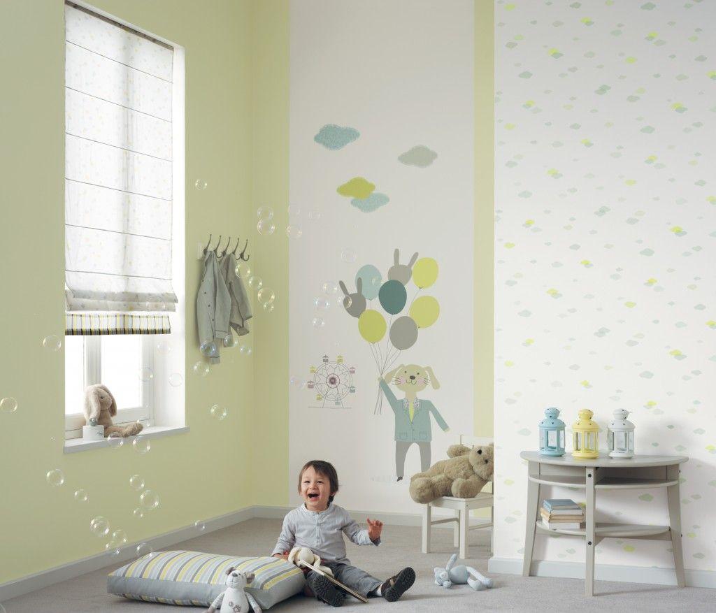 panoramique f te foraine bleu et vert collection jules et julie de casad co panoramique. Black Bedroom Furniture Sets. Home Design Ideas