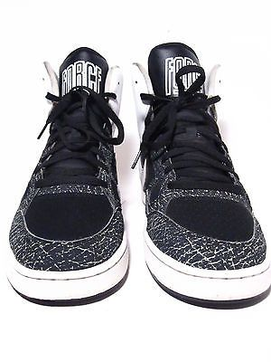 nike son of force mens sneakers size 12 blk/white 2013 oreo high top basketball