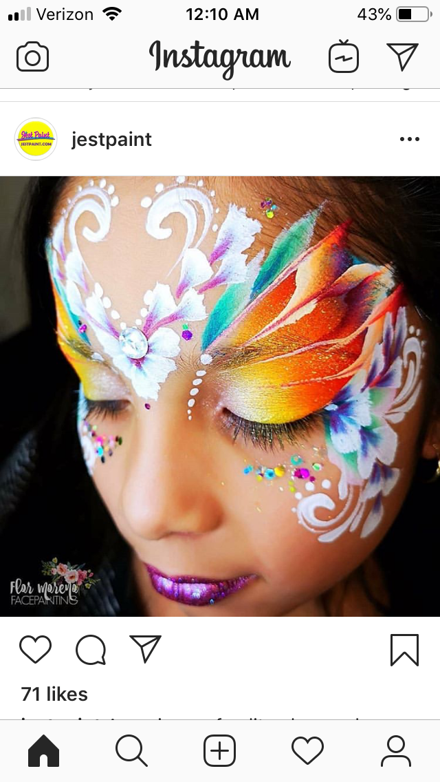 Pin by Chantel Soldan-Christ on Face Paint-Fairy, Butterfly, Flowers
