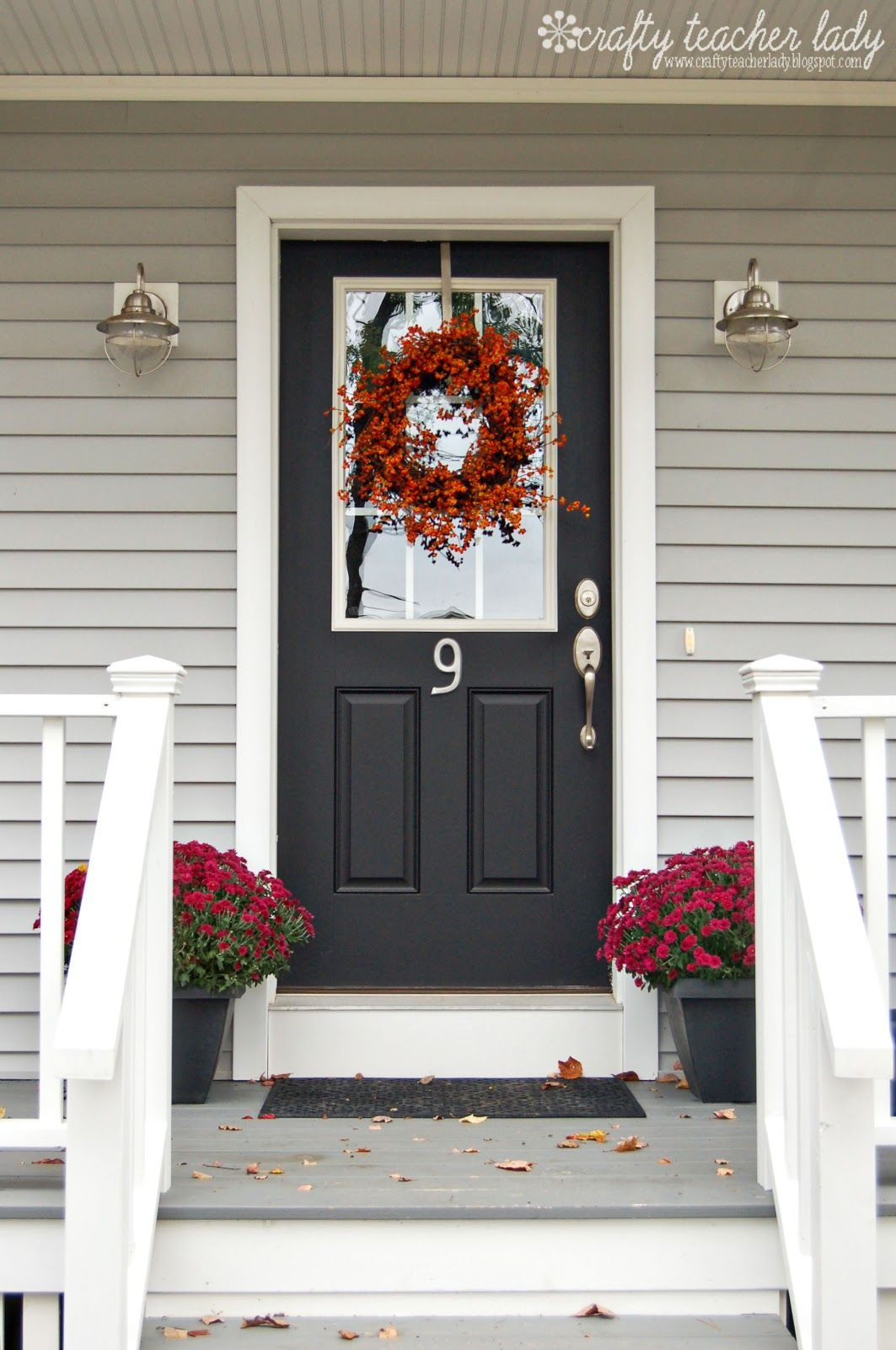 Love this front door crafty teacher lady making a - Door colors for gray house ...